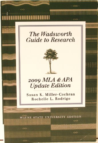 9781111466855: The Wadsworth Guide to Research: 2009 MLA & APA Update Edition