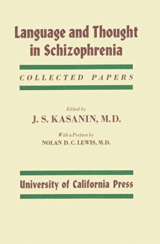 9781111467005: Language and Thought in Schizophrenia: Collected papers