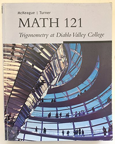Math 121 Trigonometry at Diablo Valley College