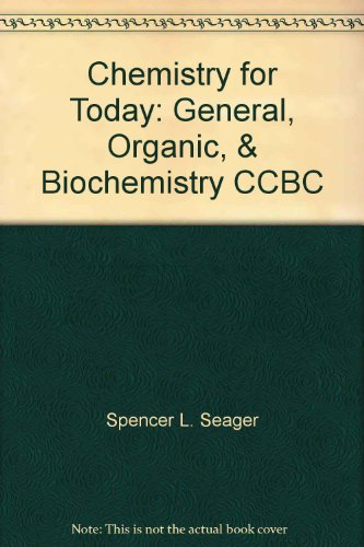9781111470470: Chemistry for Today: General, Organic, & Biochemistry CCBC