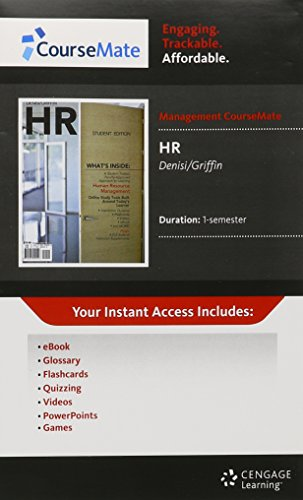 9781111472146: CourseMate Printed Access Card for Denisi/Griffin's HRM