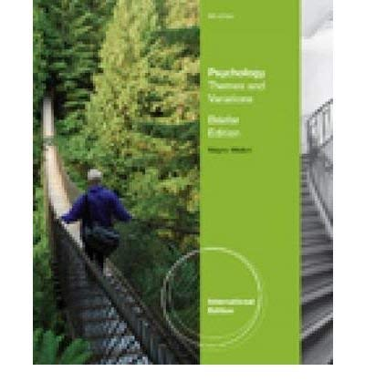 9781111476120: Psychology: Themes & Variations