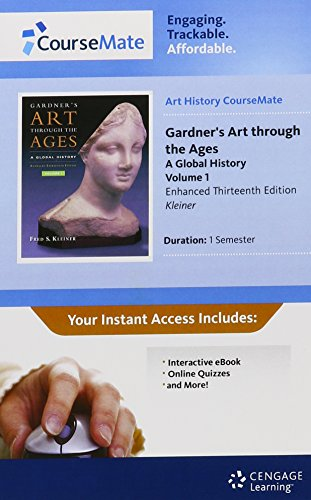 Art CourseMate with eBook, 1 term (6 months) Printed Access Card, Vol. I for Kleiner's Gardner's Art through the Ages: A Global History, Enhanced Edition, Volume I, 13th (1111481822) by Kleiner, Fred S.