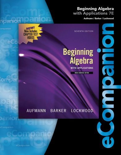 Bundle: eCompanion for Beginning Algebra + Enhanced WebAssign Homework with eBook Access Card for ...