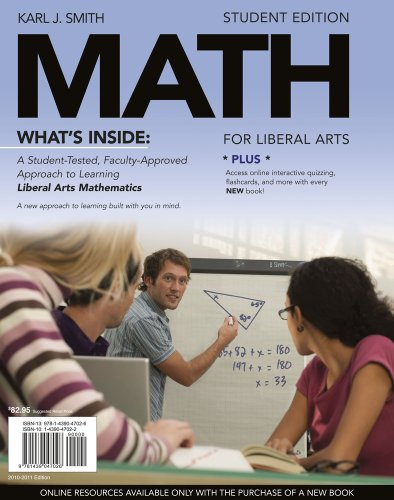 9781111490737: Bundle: MATH for Liberal Arts (with Arts CourseMate with eBook Printed Access Card) + WebAssign Printed Access Card for Smith's MATH for Liberal Arts, 1st Edition, Single-Term