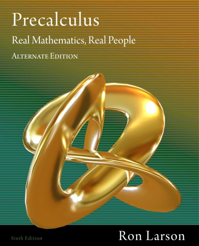 Bundle: Precalculus: Real Mathematics, Real People, Alternate Edition, 6th + WebAssign Printed ...