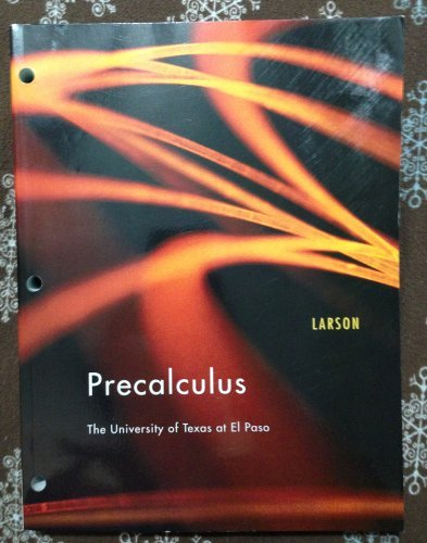 9781111517601: Precalculus: The University of Texas at El Paso