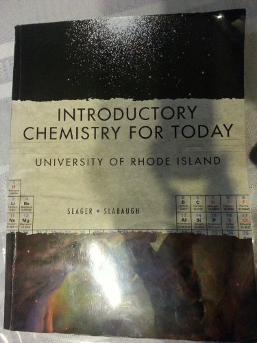 9781111520373: Introductory Chemistry for Today: University of Rhode Island