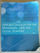 9781111520564: Applied Calculus for the Managerial, Life, and Social Sciences