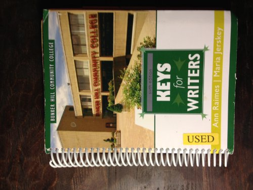 9781111520700: Keys for Writers: sixth Edition (Custom Edition for Bunker Hill Community College)