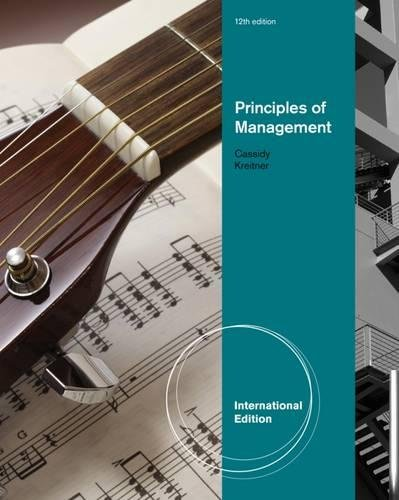 9781111525644: Principles of Management, International Edition