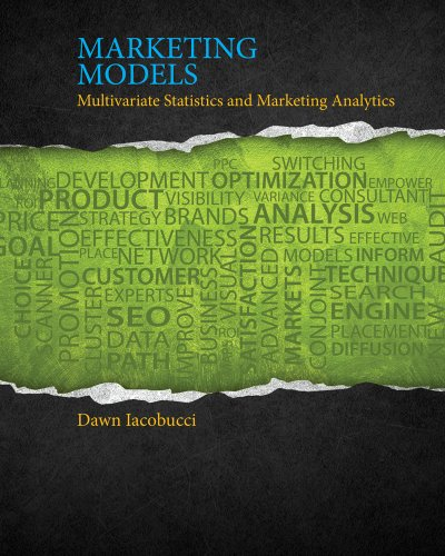 9781111525842: Marketing Models: Multivariate Statistics and Marketing Analytics