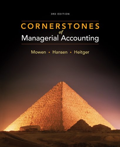 9781111527501: Cornerstones of Managerial Accounting