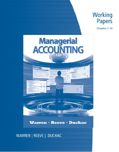 Managerial Accounting: Warren, Carl S.