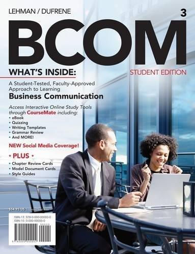 BCOM 3 (with Printed Access Card): Lehman, Carol M.;