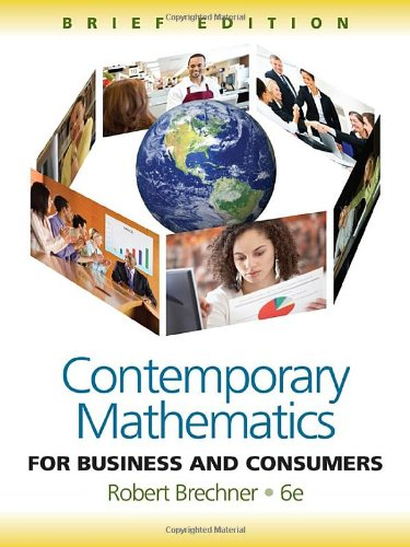 9781111529376: Contemporary Mathematics for Business and Consumers, Brief Edition