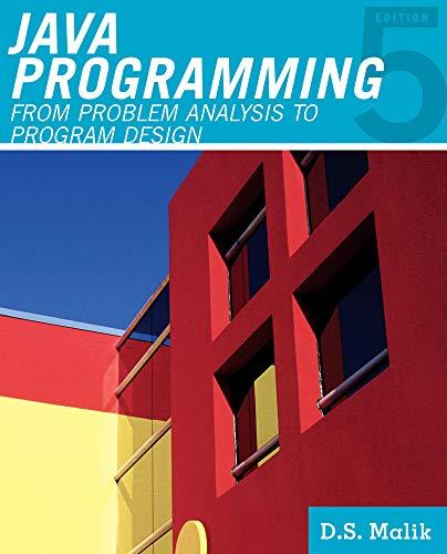 Java(TM) Programming: From Problem Analysis to Program: MALIK
