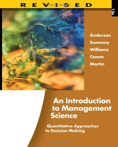 9781111532222: An Introduction to Management Science: Quantitative Approaches to Decision Making, Revised (with Microsoft Project and Printed Access Card)