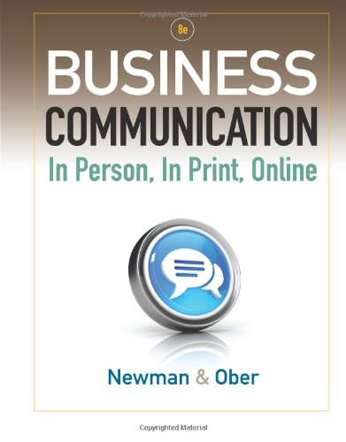 9781111533168: Business Communication: In Person, In Print, Online