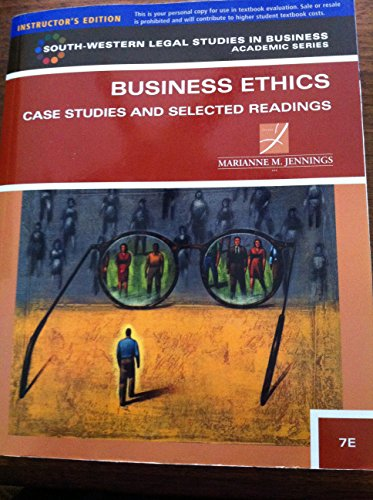9781111533540: Business Ethics: Case Studies and Selected Readings (South-Western Legal Studies in Business Academic)