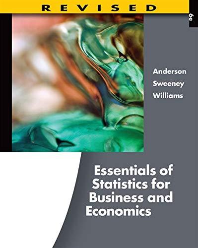 Essentials of Statistics for Business and Economics,