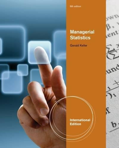 9781111534639: Managerial Statistics, International Edition (with Online Content Printed Access Card)