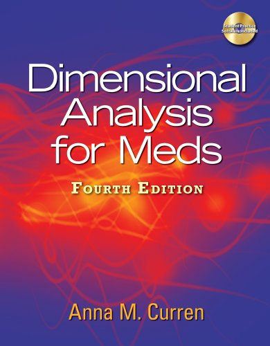 9781111537210: Student Practice Software for Curren's Dimensional Analysis for Meds, 4th