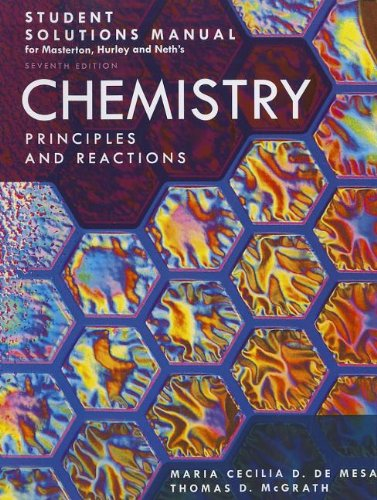 9781111570606: Student Solutions Manual for Masterton/Hurley/Neth's Chemistry: Principles and Reactions, 7th
