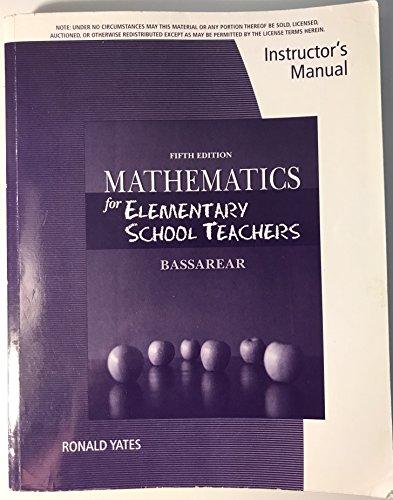 9781111571580: Im Math F Elem Sch Teach 5e