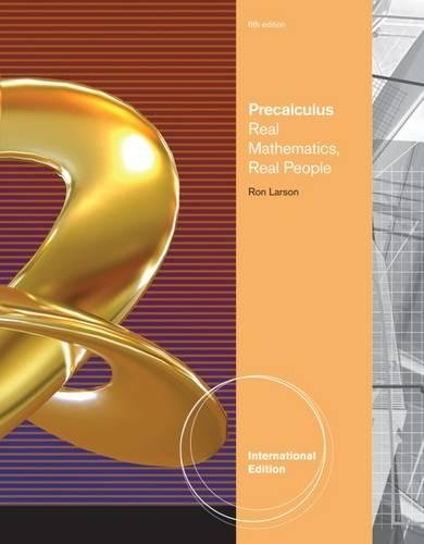 9781111572419: Precalculus: Real Mathematics, Real People