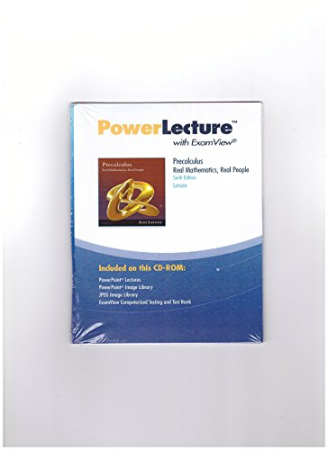 9781111572808: Power Lecture with ExamView Precalculus (CD-ROM), 6th Edition