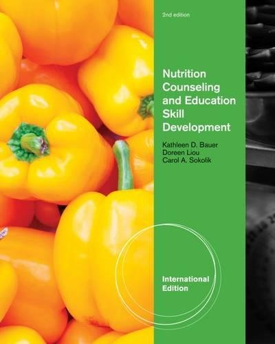 9781111574284: Nutrition Counseling and Education Skill Development