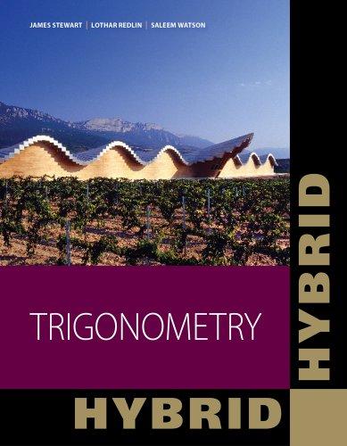 Trigonometry, Hybrid (with Enhanced WebAssign with eBook: Watson, Saleem, Redlin,