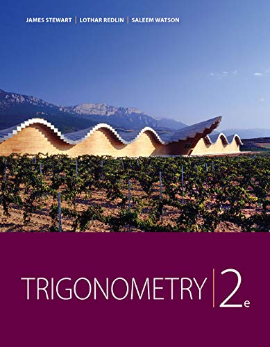 Trigonometry (9781111574482) by Stewart, James; Redlin, Lothar; Watson, Saleem