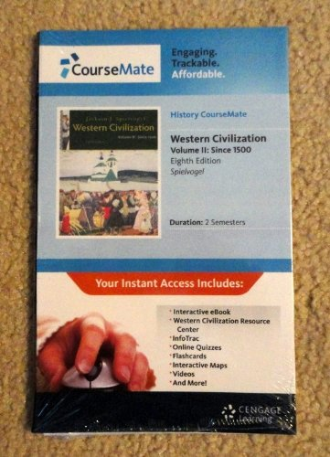 9781111575489: History CourseMate with eBook, Wadsworth Western Civilization Resource Center, InfoTrac, 1 term (6 months) Printed Access Card, Vol. II for ... Civilization: Volume II: Since 1500, 8th