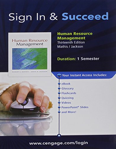 CengageNOW Printed Access Card for Mathis/Jackson's Human Resource Management, 13th: ...