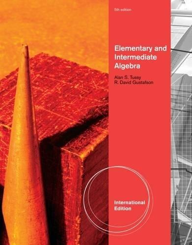 9781111578268: Elementary and Intermediate Algebra, International Edition