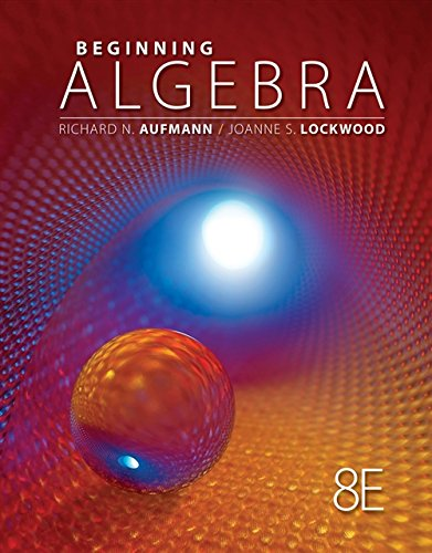 9781111578701: Beginning Algebra, 8th Edition (Textbooks Available with Cengage Youbook)