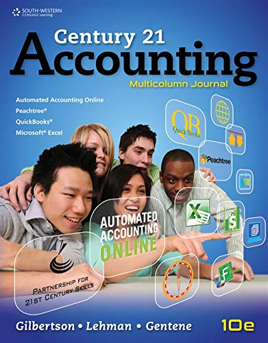 Recycling Problems Working Papers, Student Edition for Gilbertson/Lehman's Century 21 Accounting: Multicolumn Journal, 10th (1111578850) by Claudia Bienias Gilbertson; Mark W. Lehman; Debra Gentene