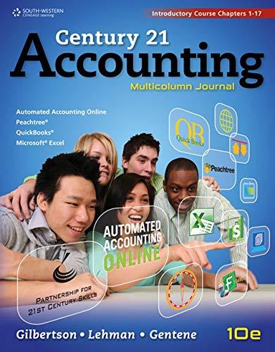 Century 21 Accounting: Gilbertson, Gilbertson