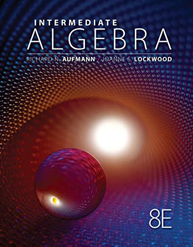 Intermediate Algebra (Textbooks Available with Cengage Youbook) (1111579490) by Richard N. Aufmann; Joanne Lockwood