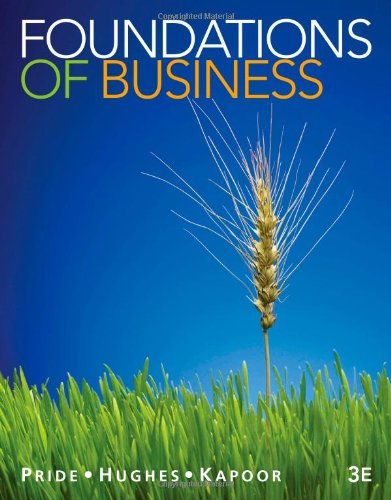 9781111580155: Foundations of Business