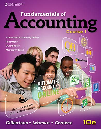 9781111581169: Fundamentals of Accounting: Course 1 (C21 Accounting, 10e)