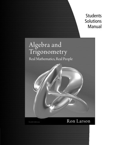 9781111582272 Student Solutions Manual For Larson S Algebra