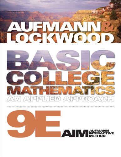 Bundle: Basic College Mathematics: An Applied Approach, 9th + CourseMate Printed Access Card: ...