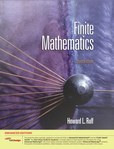 9781111616199: Bundle: Finite Mathematics, Enhanced Edition (with Enhanced WebAssign with eBook for One Term Math and Science Printed Access Card), 7th + Enhanced ... Access Card for One Term Math and Science