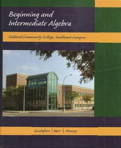 Beginning and Intermediate Algebra, 6th Edition, An