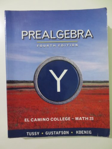9781111632311: Prealgebra (El Camino College~Math23)