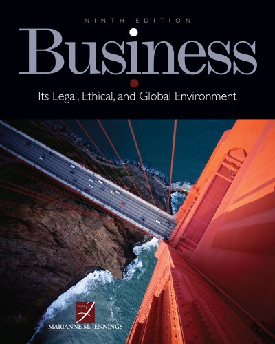 Bundle: Business: Its Legal, Ethical, and Global: Marianne M. Jennings