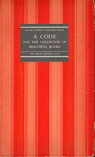 9781111667870: A CODE For The COLLECTOR Of BEAUTIFUL BOOKS.